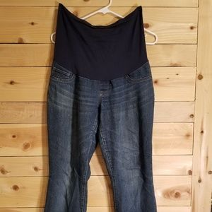 Indigo Blue Maternity Jeans Size Petite Medium